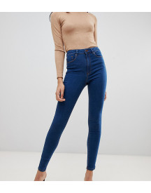 Asos Design Tall Ridley High Waist Skinny Jeans In Flat Blue Wash afbeelding