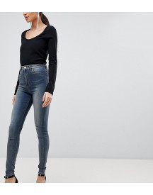 Asos Design Tall Ridley High Waist Skinny Jeans In Linka Vintage Blue Wash afbeelding