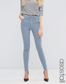Asos Tall Ridley High Waist Skinny Jeans In Nevaeh Grey afbeelding