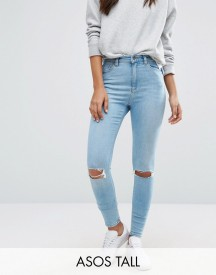 Asos Tall Ridley Skinny Jean In Felix Wash afbeelding