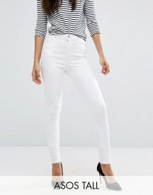 Asos Tall Ridley Skinny Jean In White afbeelding