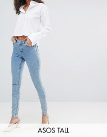 Asos Tall Lisbon Midrise Skinny Jeans In Darwin Wash afbeelding