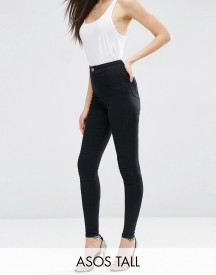 Asos Tall Rivington Jegging In Clean Black afbeelding