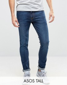Asos Tall Super Skinny Jeans In Dark Wash afbeelding
