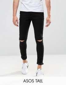 Asos Tall Super Skinny Jeans With Knee Rips afbeelding