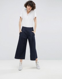 Asos White Wide Leg Jean In Indigo Wash afbeelding