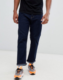 Bershka Joinlife Straight Fit Jeans In Dark Blue afbeelding