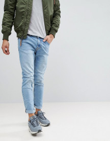 Bershka Skinny Jeans In Light Blue afbeelding