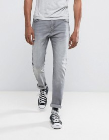 Bershka Skinny Jeans In Washed Grey afbeelding