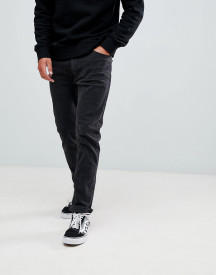 Bershka Slim Fit Jeans In Washed Black afbeelding