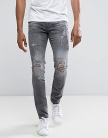 Blend Cirrus Skinny Fit Ripped Jean Grey Wash afbeelding