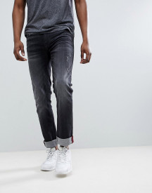 Blend Distressed Slim Fit Jeans In Washed Black afbeelding