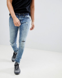 Blend Flurry Knee Rip Muscle Fit Jeans In Bleach Wash afbeelding