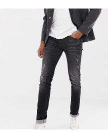 Blend Tall Distressed Slim Fit Jeans In Washed Black afbeelding