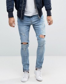 Brave Soul Distressed Skinny Jeans afbeelding