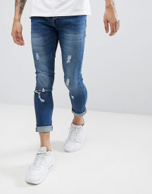 Brave Soul Fade Out Distressed Skinny Jeans afbeelding