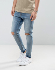 Brave Soul Skinny Carrot Fit Distressed Jeans afbeelding