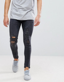 Brave Soul Skinny Frayed Ripped Jeans afbeelding