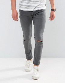 Brave Soul Skinny Jeans With Knee Rips afbeelding