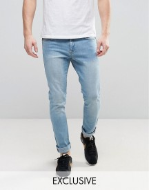 Brooklyn Supply Co Light Wash Jeans In Skinny Fit afbeelding