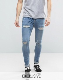 Brooklyn Supply Co Muscle Fit Extreme Skinny Jeans With Distressing afbeelding