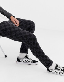 Brooklyn Supply Co Skinny Fit Jeans In Washed Checkerboard afbeelding