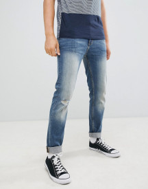Burton Menswear Tapered Fit Jeans In Blue afbeelding