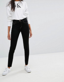 Calvin Klein Jeans High Rise Skinny Jean With Raw Hem And Contrast Stitch afbeelding