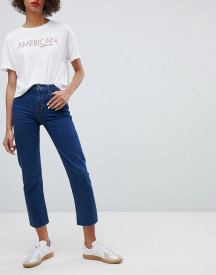 Calvin Klein Jeans High Rise Straight Leg Jean With Raw Hem afbeelding