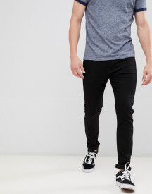 Calvin Klein Jeans Stay Black Skinny Jeans With Logo Back Patch afbeelding