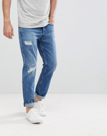 Calvin Klein Jeans Tapered Rip And Repair Jeans afbeelding
