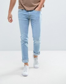 Casual Friday Slim Fit Jeans In Light Wash Blue afbeelding