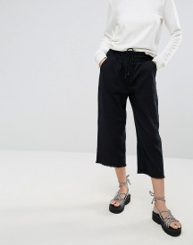 Cheap Monday Flow Cropped Denim Joggers afbeelding