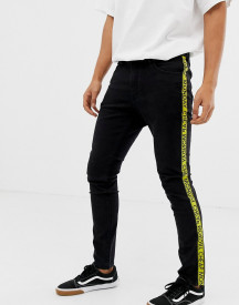 Cheap Monday Skinny Jeans With Taping In Black afbeelding