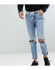 Cheap Monday Sonic Slim Jeans With Blown Out Knee afbeelding