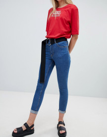 Cheap Monday Super Skinny High Rise Jean With Raw Hem afbeelding