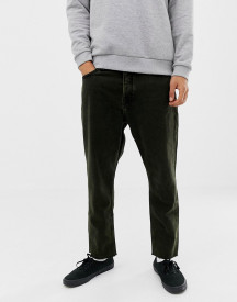 Cheap Monday Tapered Cropped Fit Jeans In Black And Yellow Tint afbeelding