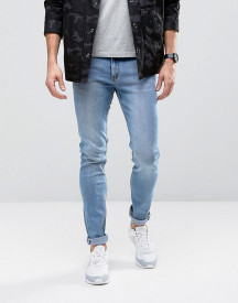 Cheap Monday Tight Jeans Skinny Fit In Stonewash Blue afbeelding