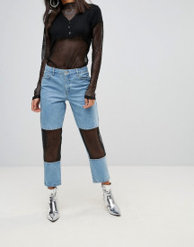 Chorus Mesh Panelled Mom Jeans afbeelding