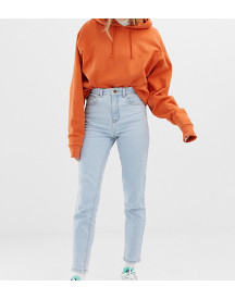 Collusion Slim Mom Jeans In Light Stone Wash afbeelding