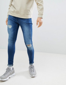 Criminal Damage Super Skinny Jeans In Dark Blue afbeelding
