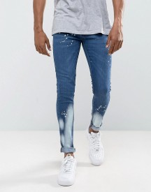 Criminal Damage Super Skinny Jeans With Bleach afbeelding