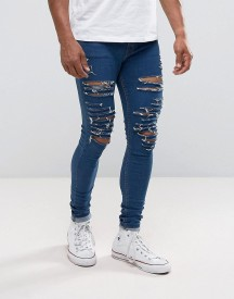 Criminal Damage Super Skinny Jeans With Distressing afbeelding