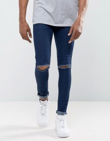 Criminal Damage Super Skinny Jeans With Knee Rips afbeelding