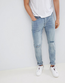 D-struct Skinny Washed Knee Rip Jeans afbeelding