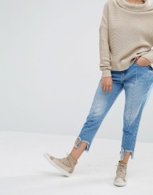 Daisy Street Reconstructed Jeans With Frayed Hems afbeelding