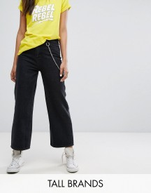 Daisy Street Tall Denim Wide Leg Jeans With Chain afbeelding
