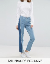 Daisy Street Tall Skinny Jean With Patchwork Side Stripe afbeelding