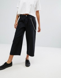 Daisy Street Wide Leg Skater Jeans With Chain afbeelding