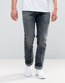 Diesel Buster Jeans Regular Slim Stretch Fit Jeans 845s Blue Grey Wash afbeelding